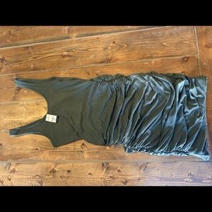 Olive green ruched Express dress